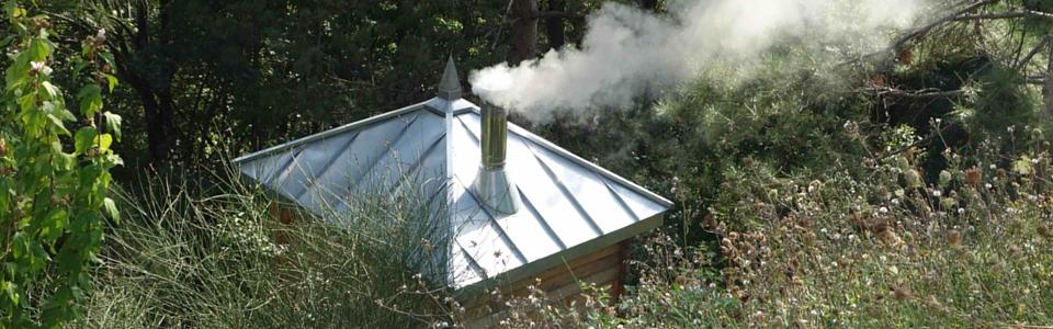 Artizinc à Corenc (38700) – Charpente et couverture en zinc d'un sauna // 2015